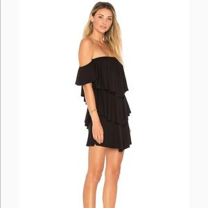 NWT Vava by Joy Han black ruffle dress